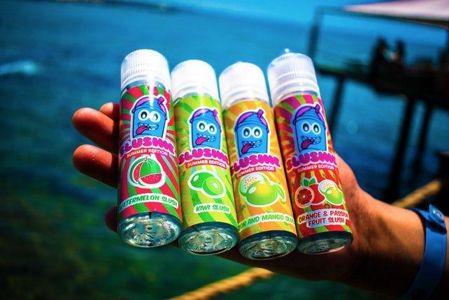 e-juices or e-liquids